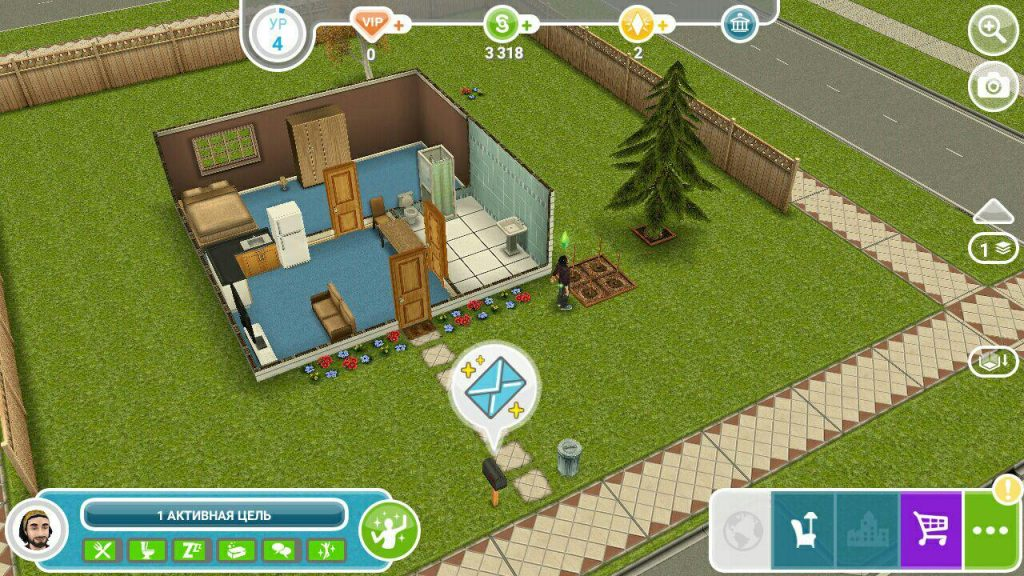 The Sims FreePlay дом