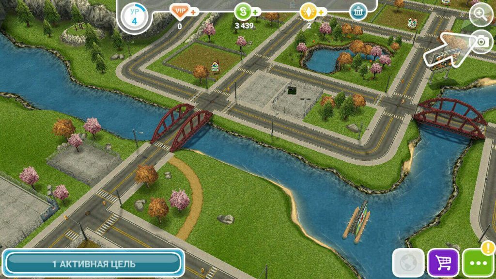 The Sims FreePlay город